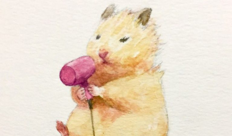 A Japanese Artist Depicts The Daily Life Of His Hamster, And It's Adorable